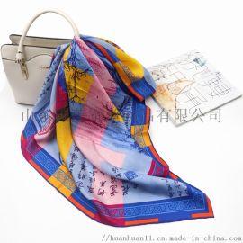 絲綢禮品伴手禮真絲圍巾定製批發加工