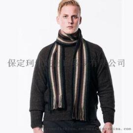 冬季男装条纹针织羊毛围巾