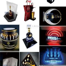 上海亚克力陈列展示道具定制厂家led发光道具