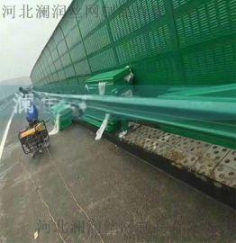 澜润环保工程生产 高速公路声屏障生产厂家 高架桥梁隔音墙