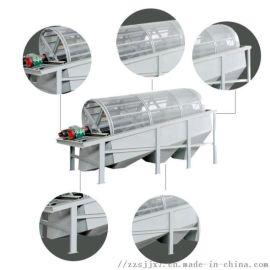 不锈钢木材锯末滚筒筛分机 新型活性炭筛分机