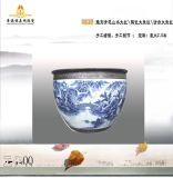 陶瓷大鱼缸+青花大鱼缸