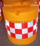 滾塑防撞桶制造廠家 道路警示船型防撞桶水馬價格