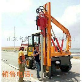 高速公路护栏打桩机 936液压装载护栏打桩机
