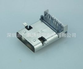 USB 3.1 Type-C母座前贴后插加长型24P前插后贴L=11.95mm 3.1母座