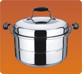 不锈钢单篦蒸锅(组合盖)