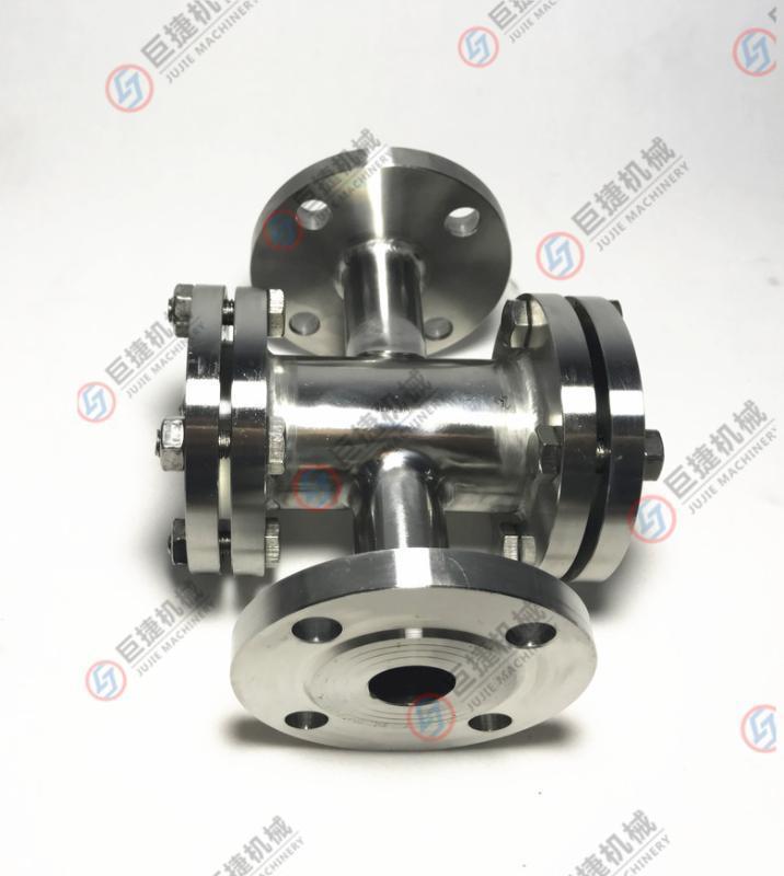 温州厂家生产不锈钢法兰四通视镜 管道四通视镜