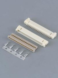 厂家供应1.00mmDF19白色单排线对板连接器