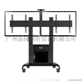NBAVG1800-60-2A双屏带鬼电视机移动支架 40-60寸一体机展示立架