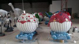 深圳厂家提供旅游景点海洋生物鲸鱼雕塑装饰品 大型玻璃钢艺术雕塑工艺品
