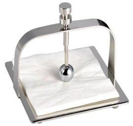 创意纸巾盘 不锈钢新款纸巾座   餐厅纸巾架 批发包邮