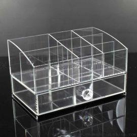 亚克力化妆品收纳盒 抽屉式桌面化妆盒透明 有机玻璃盒
