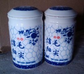 2016年新品青花陶瓷茶叶包装罐生产厂