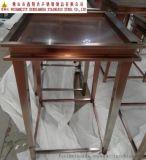 紅古銅不鏽鋼展示架  珠寶不鏽鋼展示櫃  展櫃廠家專業訂做