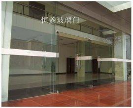 玻璃门图片电动玻璃门维修无框玻璃门