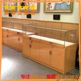 直销玻璃柜台展示柜 木质烤漆饰品珠宝首饰柜子展柜陈列厂家定制