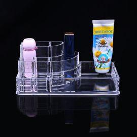 **爆款 创意桌面透明亚克力化妆品收纳盒 纹绣口红等收纳盒