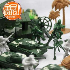 玩模乐军事士兵模型玩具90配件 战争场景沙盘塑料小兵人儿童玩具套装批发