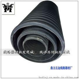 地埋双壁波纹管大口径排污管DN400国标波纹排水管