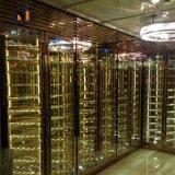 別墅紅酒架 酒店高檔名酒展示櫃 玫瑰金恆溫酒櫃