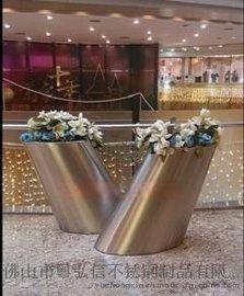 专业生产不锈钢镜面拉丝花盆 花箱 花钵 厂家直销
