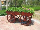 定製防腐木花箱花車戶外組合花箱花壇廣場種植木質花箱
