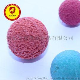 剥皮海棉清洗球 海绵橡胶球 砼泵地泵管道清洗球