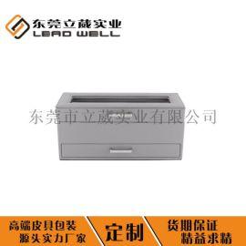 **纯色双层PU皮手表展示盒收纳盒皮盒定制