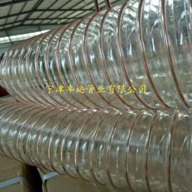 德州PU钢丝管厂家木屑集尘软管高伸缩风管