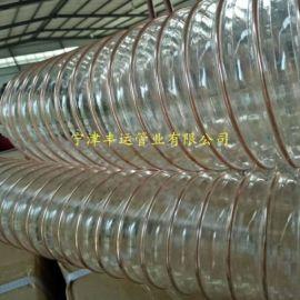 吸粮机专用PU耐磨钢丝伸缩管