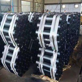皮带机槽形托辊 包胶缓冲托辊 133槽形托辊