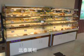 深圳时尚精品烘焙多功能手拉抽屉面包展示柜制作厂家