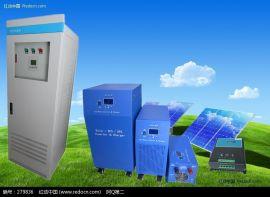 家用太阳能发电系统24V48V光伏离网发电系统 内置3KW太阳能逆变控制一体机 光伏系统