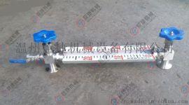 304不锈钢玻璃管液位计 带排污阀液位计