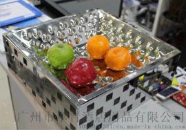 不锈钢锤点果盘锤印果盆刺身盘酒店用品KTV配套果盆果盘冷餐