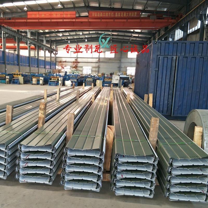 YX65-410型铝镁锰屋面板 直立锁边系统