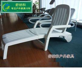 绿岚品牌01-ABS塑料折叠躺椅现货供应