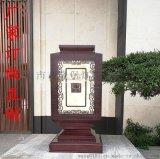 中式柱頭燈大型電鍍紫銅矮柱燈別墅門口景觀燈復古宮燈