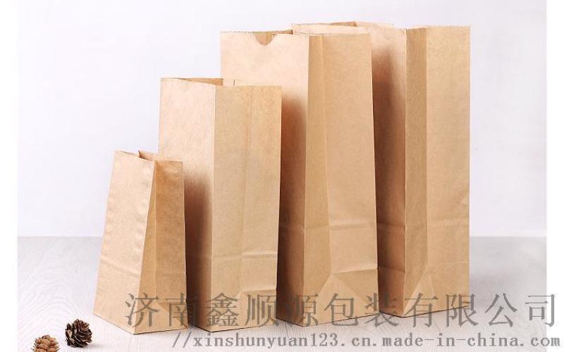 方底牛皮纸袋 食品方底纸袋 牛皮纸方底纸袋