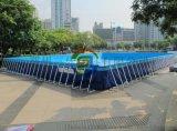 户外大型600平方支架水池多少钱