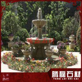 景观石雕水钵 花岗岩喷泉定做 工艺精湛
