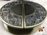 圆形祥云仿古铜铝板雕刻拉手古典美的气息