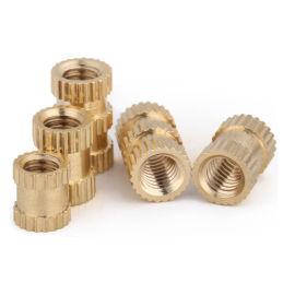滚花铜螺母 环保铜花母 预埋铜螺母 注塑铜螺母