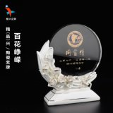 水晶陶瓷獎牌製作  陶瓷水晶獎牌/教師節禮品定製