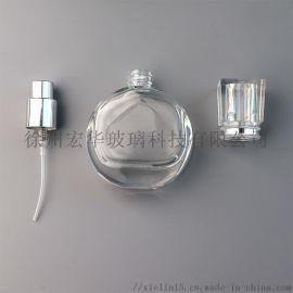 香水瓶玻璃30ml扁圆玻璃香水瓶