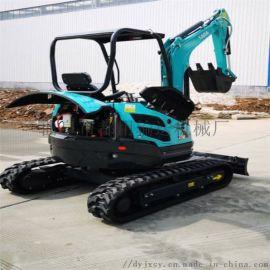 胶轮挖掘机 果园开沟挖土机挖坑机 都用机械履带式田