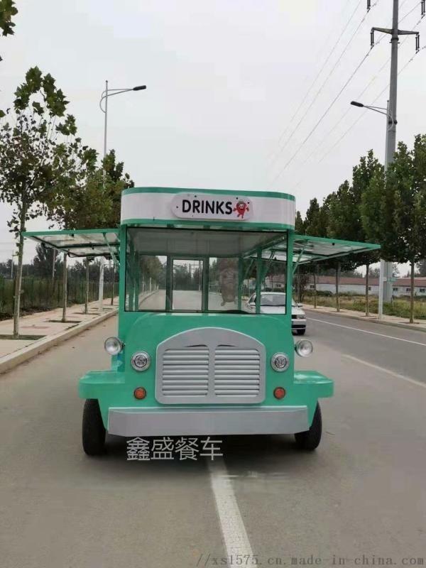 河南全封闭四车轮电动餐车流动餐车巴士街景小吃