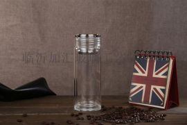 日照加汇双层玻璃杯印字广告杯礼品杯商务水晶口杯印LOGO水晶玻璃杯厂家