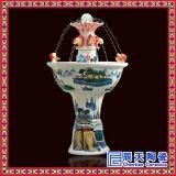景德鎮工藝花卉陶瓷噴泉定製 禮品陶瓷加溼器廠家