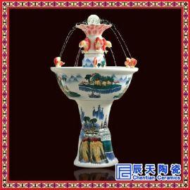 景德镇工艺花卉陶瓷喷泉定制 礼品陶瓷加湿器厂家